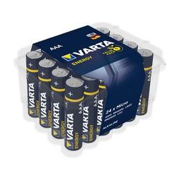 Varta, Piles alcaline, Energy, Micro AAA, LR3, Boîte de 24, 4103 229 224