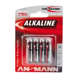 Ansmann, Piles alcaline, RED, Micro AAA, LR03, Blister de 4, 5015553