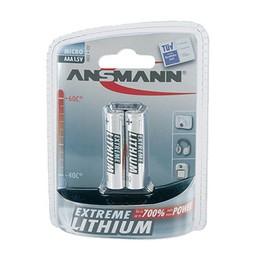 Ansmann, Pile Extreme Lithium, Micro AAA, FR03, Blister de 2, 5021013