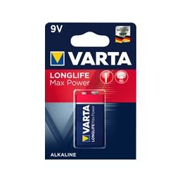 Varta, Pile alcaline, LONGLIFE Max Power, 9V, 6LP3146, 04722 101 401