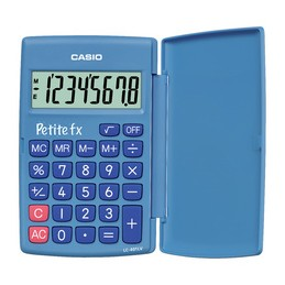 Casio, calculatrice Petite fx, LC-401 LV-BU, Bleu