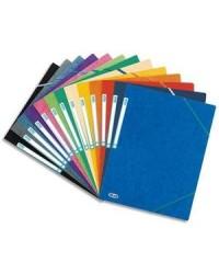 Elba chemise en carte 3 rabats élastiques TOP FILE couleurs assorties 100200901