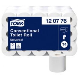Tork, Papier toilette, 2 plis, Blanc, Universal, Paquet de 30 rouleaux, 120776