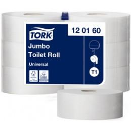 Tork, Papier toilette, Jumbo, 1 pli, Blanc, 480m, Paquet de 6 rouleaux, 120160