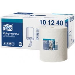 Tork, Rouleau, Papier d'essuyage, 2 plis, 160 m, Fort, Blanc, 101240