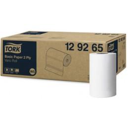 Tork, Rouleau, Papier d'essuyage, 2 plis, 55 m, Fort, Blanc, 129265