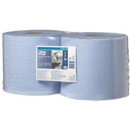 Tork, Rouleau, Papier d'essuyage, 255 m, Multi-usages, 2 plis, Bleu, 130052