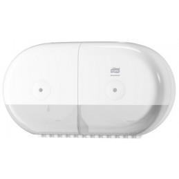 Tork, Distributeur, Papier toilette, Double rouleau, T9, SmartOne mini, Blanc, 682000