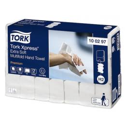 Tork Xpress, Essuie-mains interfoliés, H2, 212 x 340 mm, Premium, 100297