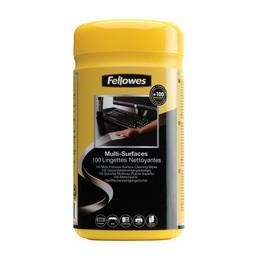 Fellowes, lingettes de nettoyage, Humides, Pour surfaces, 9971509