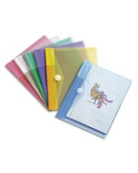 Tarifold tcollection, Pochettes documents, A5, PP, Couleurs, Velcro, 510259