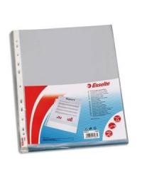 Esselte paquet 100 pochettes plastique perforées LISSE 13088