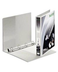 Leitz Classeur personnalisable, Softclick, Dos 38mm, 4 anneaux, 2 faces, Blanc, 42000001
