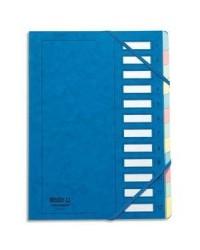 Extendos Trieur à élastique série 237, 12 compartiments, Carte bleu, 237.12