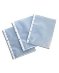 Esselte Pochettes plastique perforées, Premium, Grainées, Paquet de 100, 23743