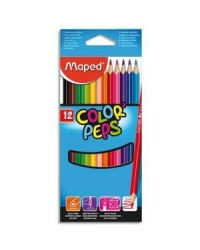 Maped étui 12 crayons de couleur color peps183212
