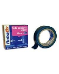 Rubafix Toile adhésive, Plastifiée, 19mm x 3m, Bleu, 570200