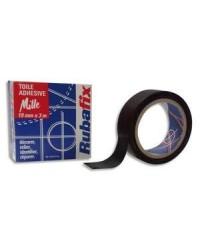 Rubafix Toile adhésive, Plastifiée, 19mm x 3m, Noir, 570800