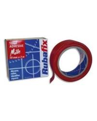Rubafix Toile adhésive, Plastifiée, 19mm x 3m, Rouge, 571000