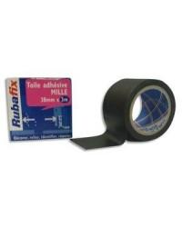 Rubafix Toile adhésive, Plastifiée, 38mm x 3m, Noir, 572800
