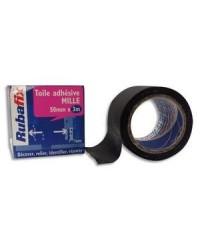 Rubafix Toile adhesive, Plastifiée, 50mm  x3m, Noir, 558800