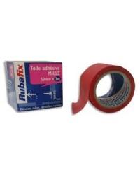 Rubafix Toile adhésive, Plastifiée, 50mm x 3m, Rouge, 559000