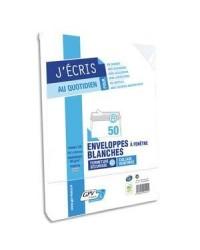 GPV paquet 50 enveloppes DL 110x220 BLANC 75G auto adhésives 517