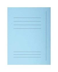 Exacompta Chemises imprimées, 3 rabats, SUPER, Bleu clair, Paquet de 50, 235006E
