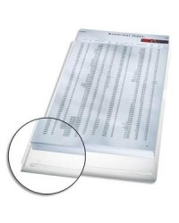 Esselte sachet 5 pochettes plastique PVC 17/100E à soufflet INCOLORE 40563003