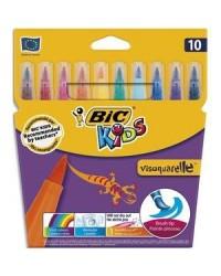 Bic kds étui 10 feutres de coloriage VISAQUARELLE pointe pinceau 828964