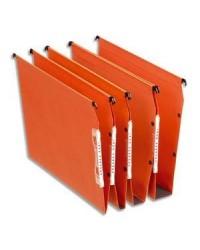Esselte Dossiers suspendus, Dual, Armoire, Fond 15mm, Kraft, Orange, 21628