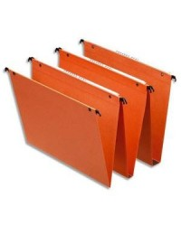 Esselte Dossiers suspendus, Dual, Tiroir, Fond 15mm, Kraft, Orange, 21632