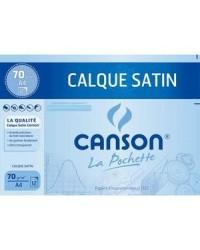 Canson pochette 12 feuilles de calque satin 24x32cm 90G 200002772