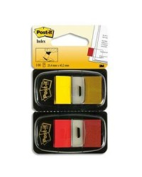 Post it 2X50 index marque pages ROUGE JAUNE 58957