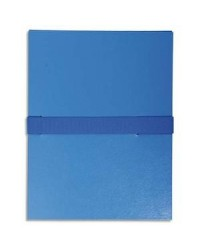 Exacompta Chemise extensible, Sangle auto agrippante, Velcro, Balacron, Bleu, 622E