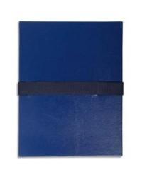 Exacompta Chemise extensible, Sangle auto agrippante, Velcro, Balacron, Bleu foncé, 626E