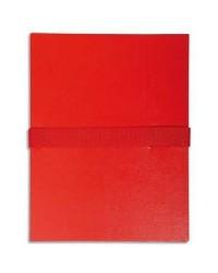 Exacompta Chemise extensible, Sangle auto agrippante, Velcro, Balacron, Rouge, 629E