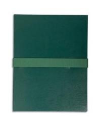 Exacompta Chemise extensible, Sangle auto agrippante, Velcro, Balacron, Vert foncé, 633E