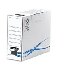 Bankers Box Boites a archives, 100 mm, Basic, Fellowes, Carton recyclé, 4460201