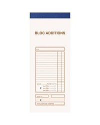 Exacompta bloc autocopiant ADDITIONS 91X225 50/2 DUPLI numérotés 13482E