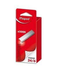 Maped boîte de 5000 agrafes 24/6 324401