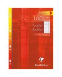 Clairefontaine étui 100 copies doubles A4 grands carreaux SEYES 4721C