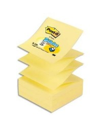 Post it Recharge 100 notes adhésives, Z-NOTES, 76X76mm, JAUNE, 23730 R-330 / FT510000092