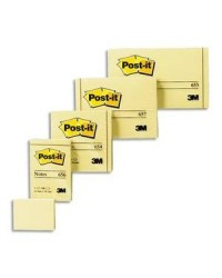 Post it bloc 100F notes 76X102 JAUNE 23625