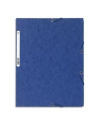 Exacompta Chemise à élastiques, 3 rabats, Carte, Bleu, 55502E