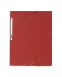 Exacompta Chemise à élastiques, 3 rabats, Carte, Rouge, 55505E