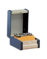 Rexel boîte à fiches portrait A6 148X105 GRIS 3410300