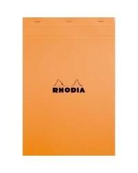 Rhodia Bloc note N°19, A4+ 210x318mm, Quadrillé 5x5, petits carreaux, 19200C