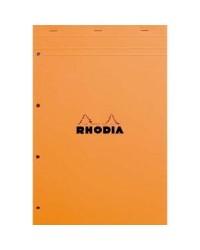 Rhodia bloc note N°20 A4+ perforé petits carreaux 5X5 20200