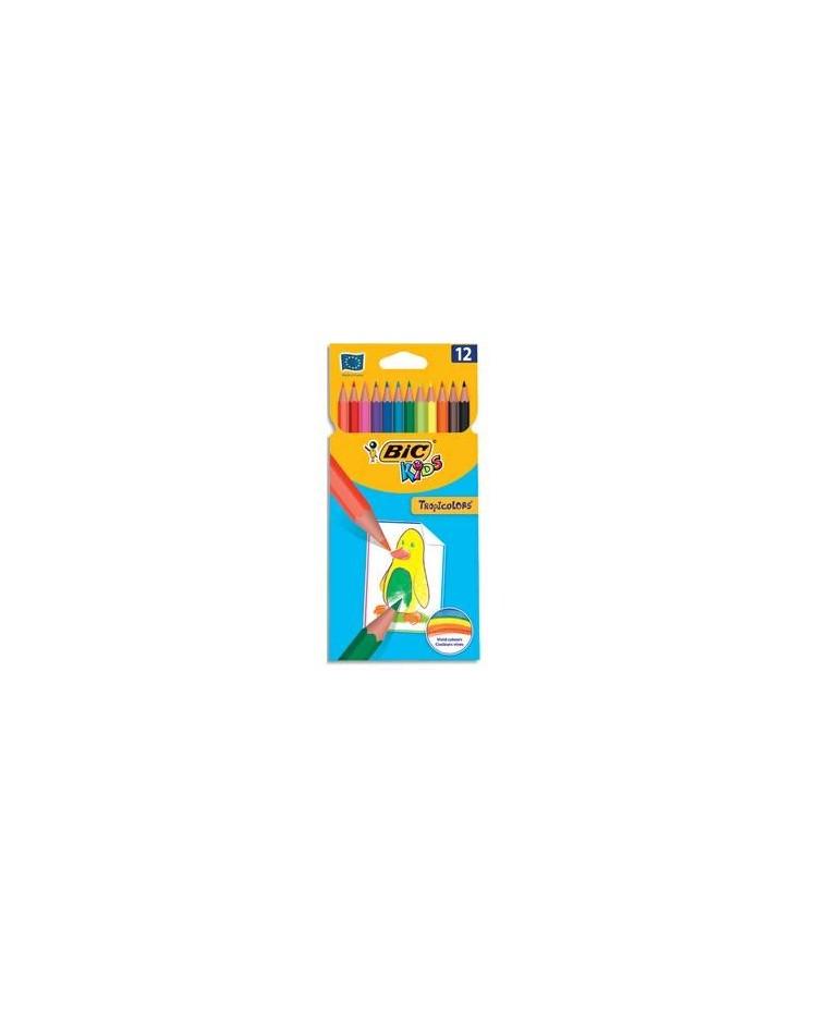 Bic étui 12 crayons de couleur tropicolor2 8325666